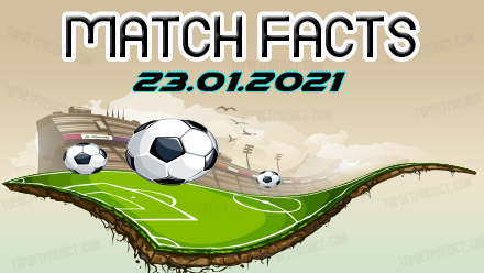 Match Facts and Predictions 23 01 2021