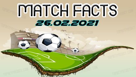 Match Facts and H2H Predictions 26.02.2021